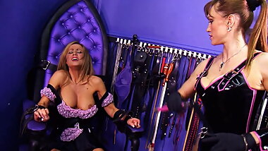 Maid  caught slacking by mistress