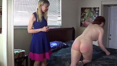 Spanking, rectal temperature, inspection for Veronica