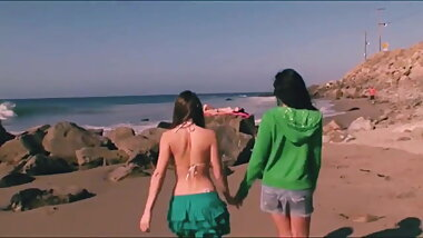 Lesbian Trip From The Beach