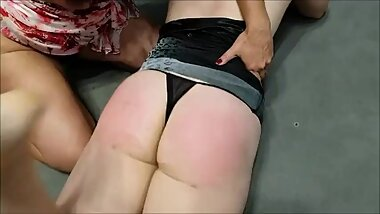 Blonde Spanking and Wedgie Domination