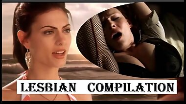 LESBIAN COMPILATION - celebrities pussy licking - Bitch Slap eating pussy